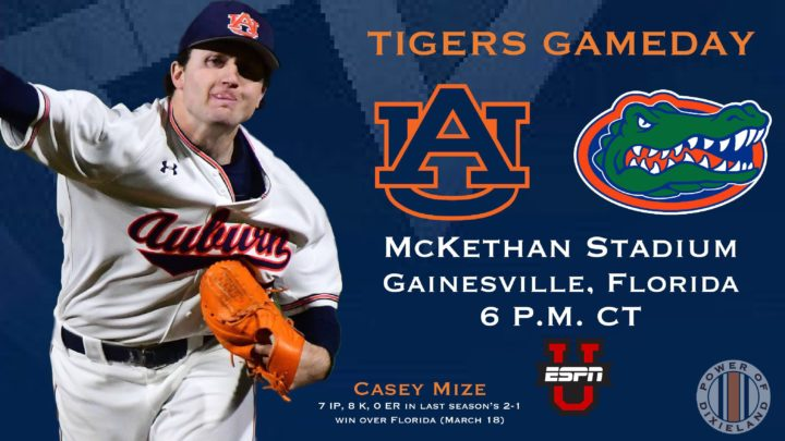 Game Day Info: Auburn Baseball vs Florida, Game One