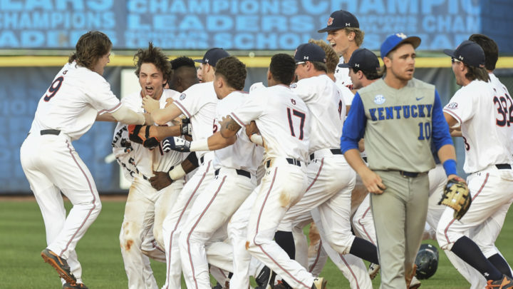 SEC Tournament: Auburn Defeats Kentucky on Extra Inning Walk-off Single