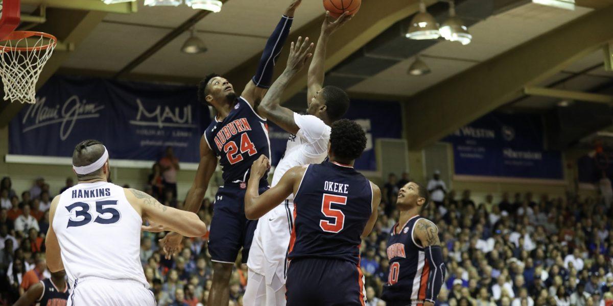 Auburn grinds out win in OT over Xavier in Maui; No. 1 Duke awaits